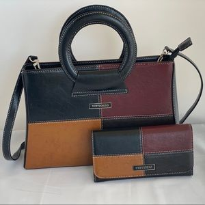 Vitoria hand bag and matching trifold wallet